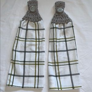 Other - Lot of Two Crocheted Hanging Cotton Kitchen Towel